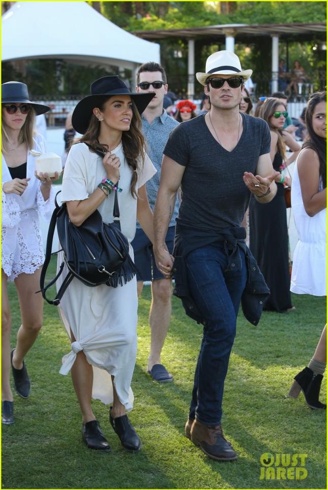 Nikki Reed and Ian Somerhalder express their love at Coachella