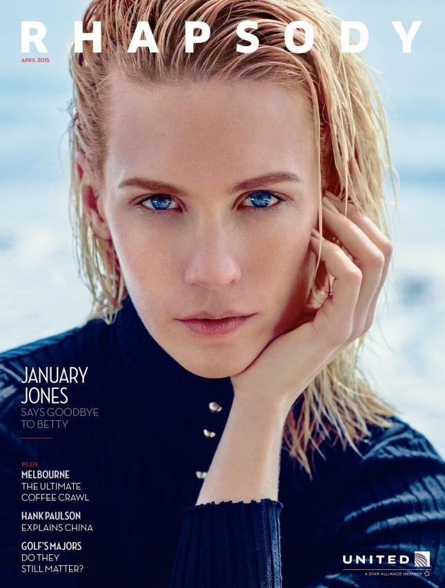 Дженьюари Джонс на обложке Rhapsody Magazine