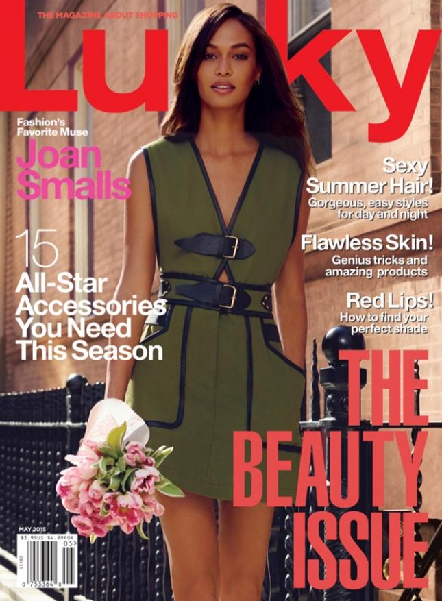 Джоан Смоллс  на обложке Lucky Magazine