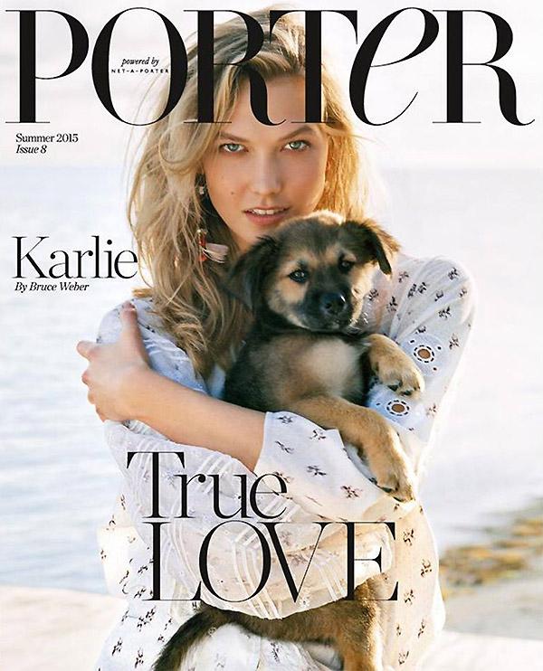 Карли Клосс на обложке Porter лето 2015
