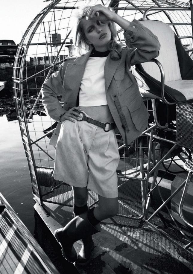 Каролина Куркова в фотосессии для Elle Италия, май 2015