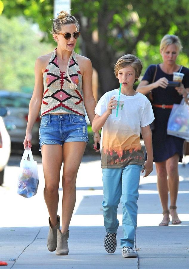 Кейт Хадсон с сыном