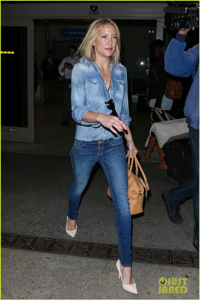 Кейт Хадсон утомилась во время перелёта