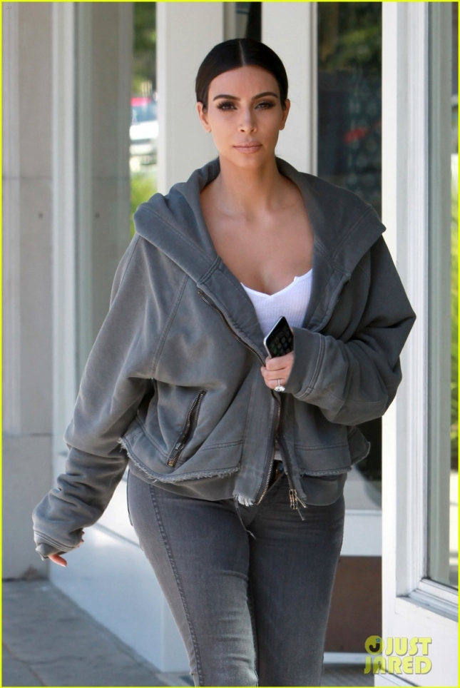 *EXCLUSIVE* Kim Kardashian rocks a rare hoodie in Beverly Hills
