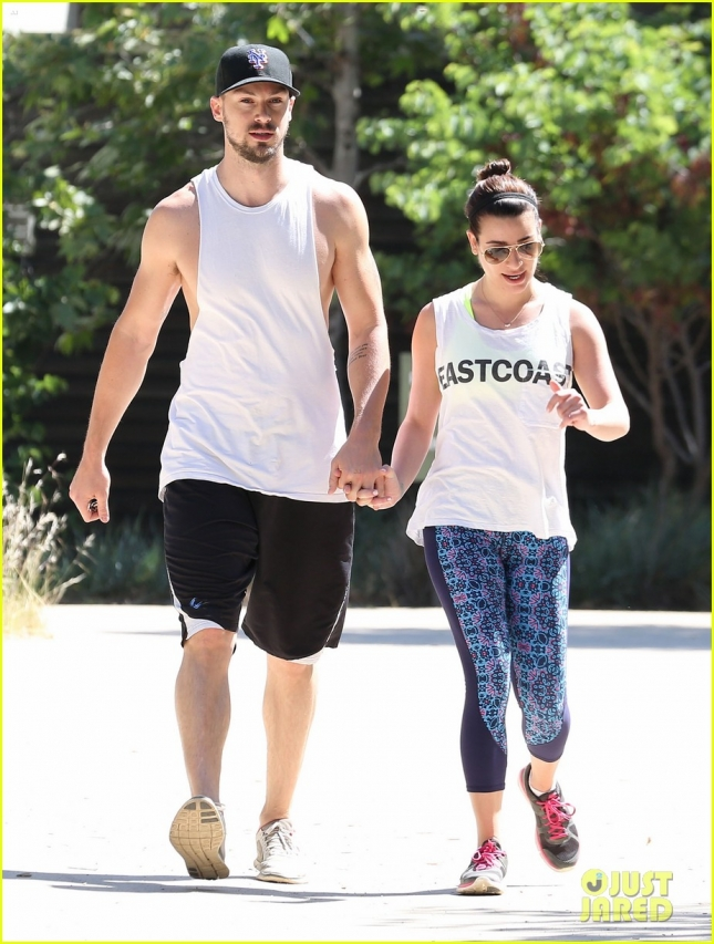 Lea Michele & Matthew Paetz Hike At TreePeople Park