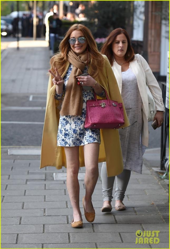 Линдси Лохан счастлива в Лондоне