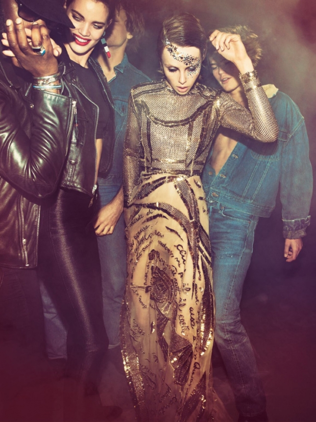 Лия Кебеде, Камерон Рассел, Карли Клосс, Эди Кэмпбелл для Vogue Париж, май 2015