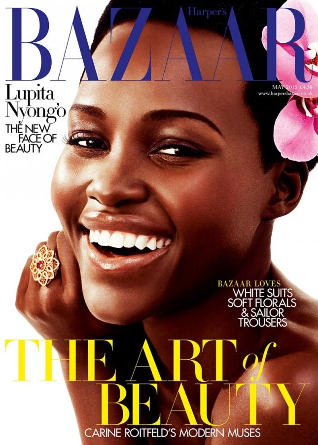 Люпита Нионго на обложке Harper's Bazaar UK