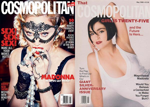 Мадонна на обложке Cosmopolitan USA, май 2015