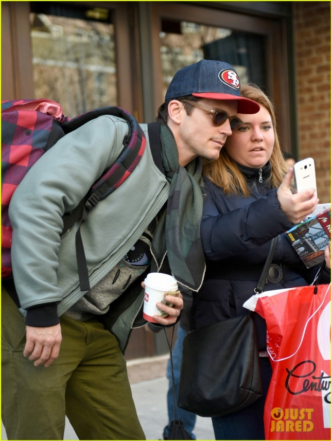 **USA ONLY** Matt Bomer makes time for his fans in the Big Apple