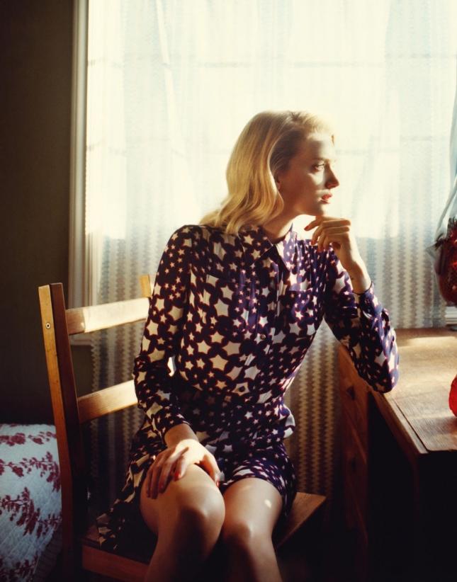 Лили Дональдсон в фотосессии для Porter, лето 2015