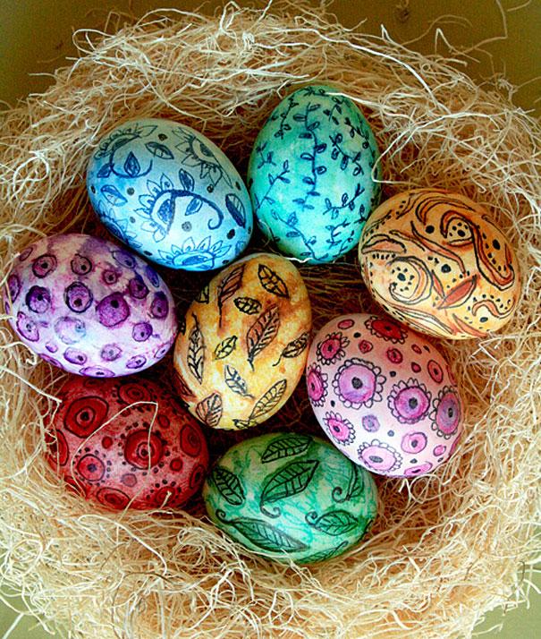 Как красиво декорировать пасхальные яйца / фото 2019