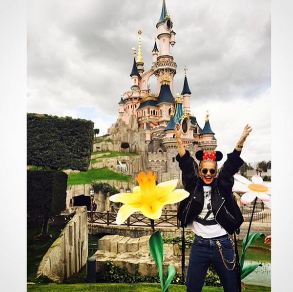 Rita Ora was at the Happiest Place on Earth