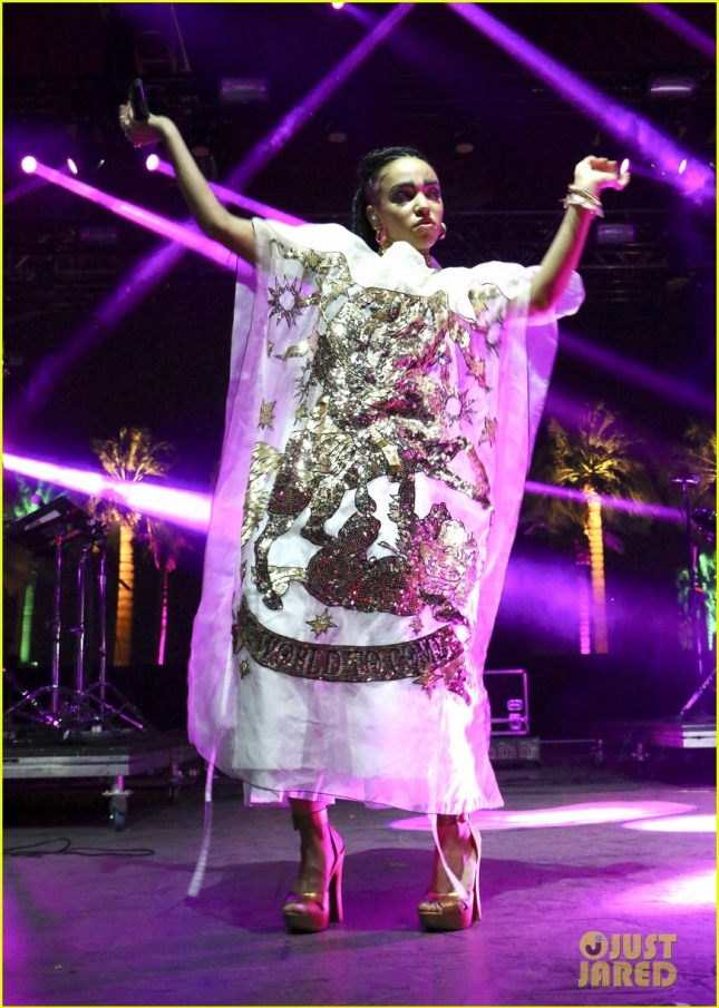 FKA Twigs performs on Day 2 of the Coachella Music Festival **USA ONLY**