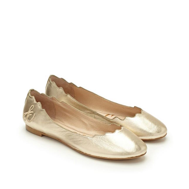 sam-edelman-scallop-flats-gold