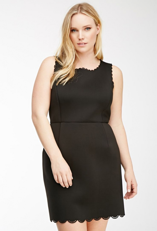scallop-hem-black-dress