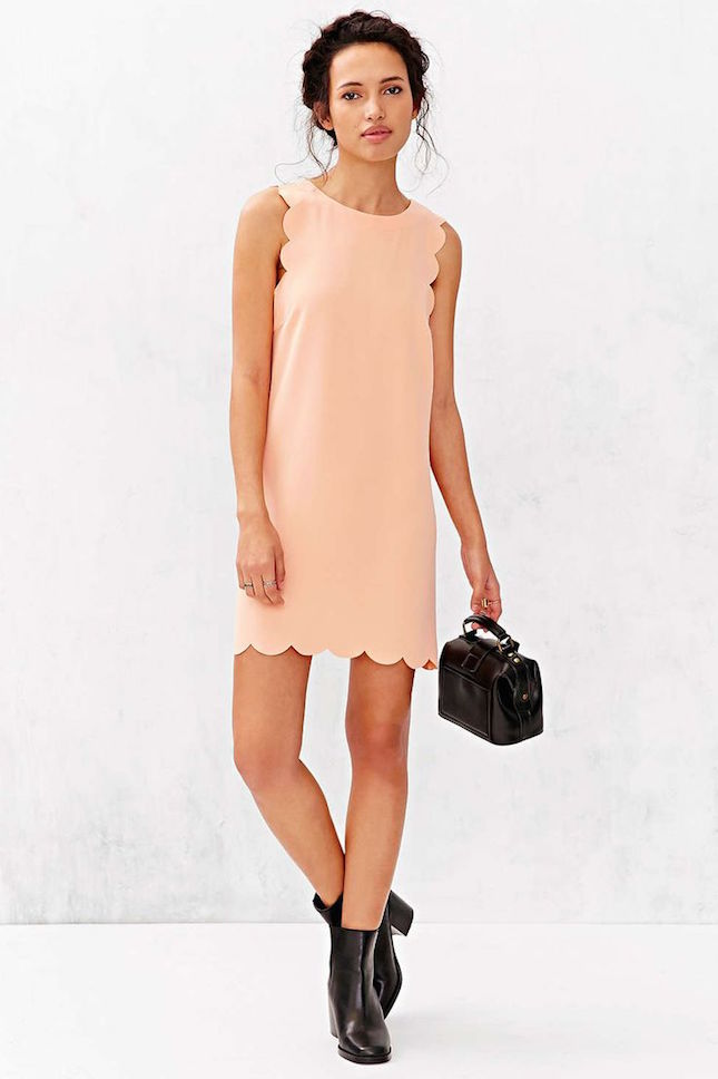 Scallop-Shift-Dress