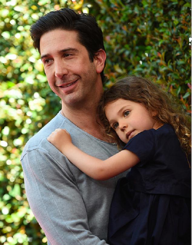 Дэвид Швиммер с дочкой Клео