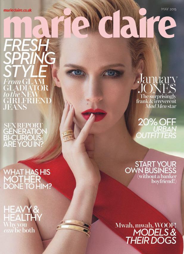 Дженьюари Джонс на обложке  Marie Claire UK, май 2015