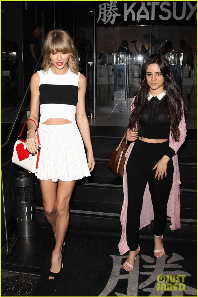 Taylor Swift and Fifth Harmony's Camila Cabello leave a sushi dinner date