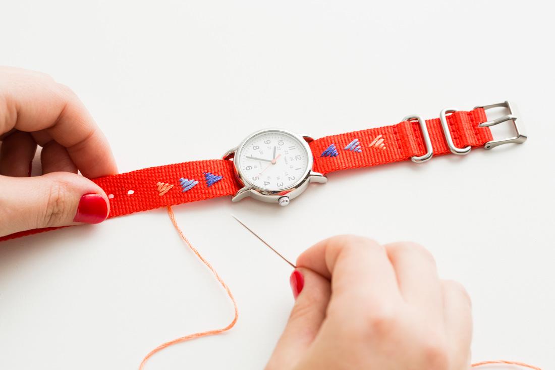 Как из кожи сделать браслет для часов своими руками 28