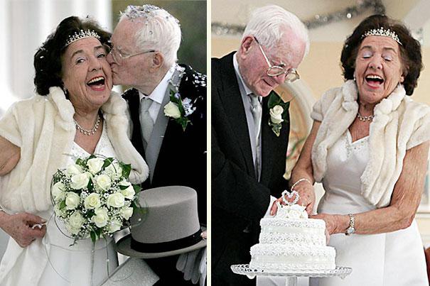 Одна из самых старых пар, сочетающихся браком в Великобритании