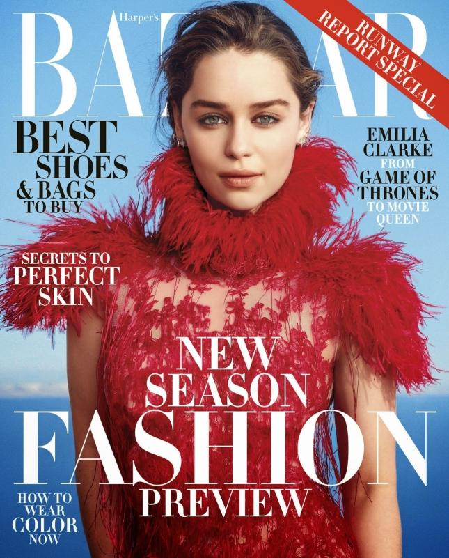 Эмилия Кларк на обложке  Harper's Bazaar US, июнь 2015