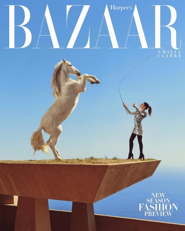 Эмилия Кларк для  Harper's Bazaar US, июнь 2015