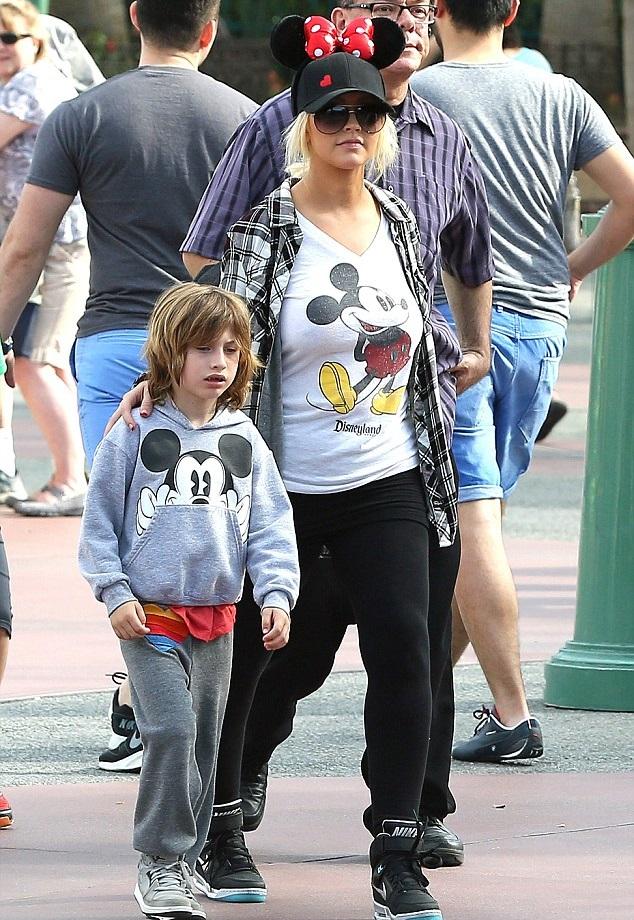 Кристина Агилера с сыном