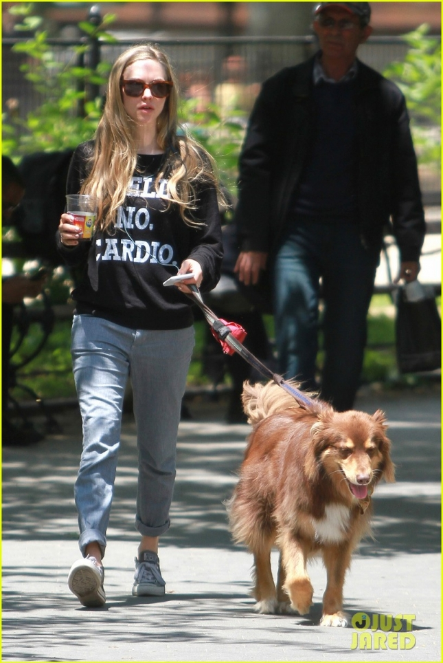 Amanda Seyfried enjoys a stroll with Finn **USA ONLY**