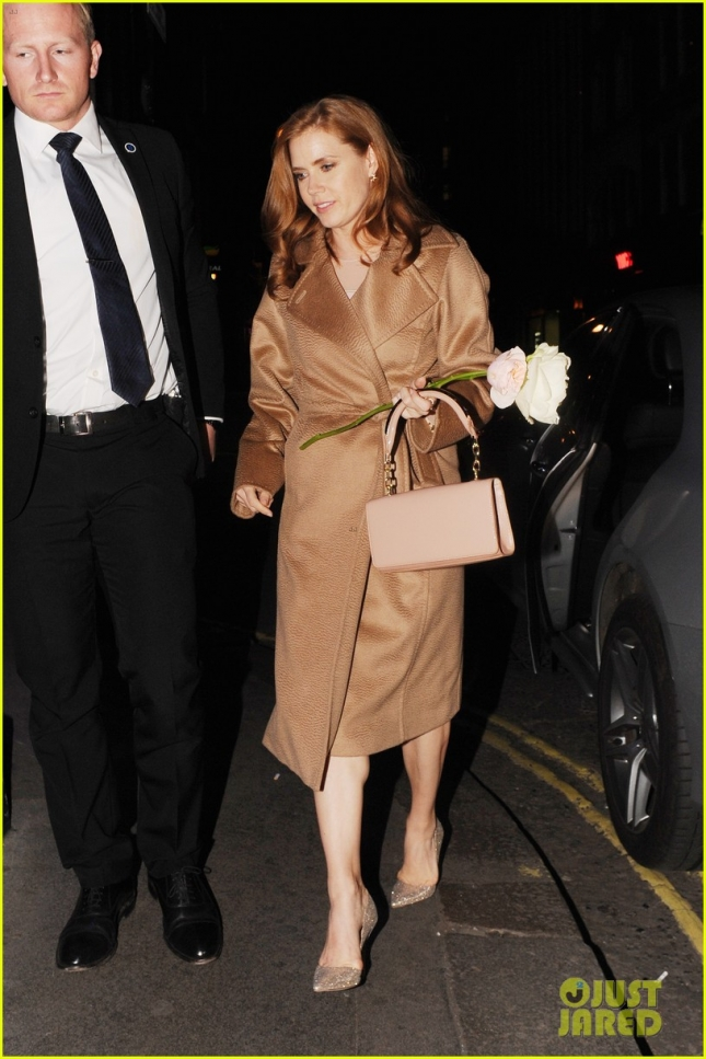 Amy Adams and Darren Le Gallo head to a karaoke bar after Max Mara Show **USA ONLY**