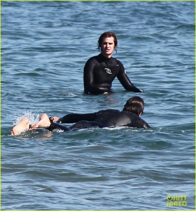 Exclusive... Andrew Garfield Out Surfing In Malibu