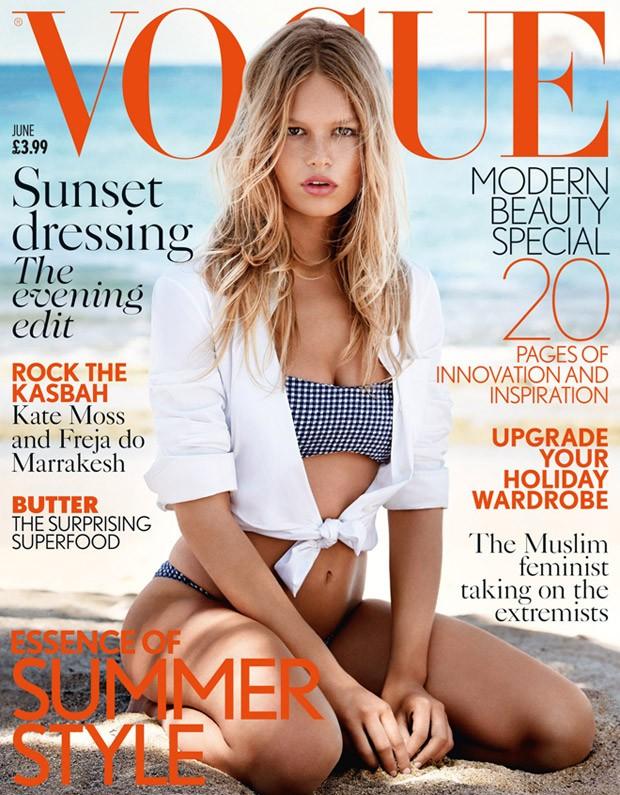 Анна Эверс на обложке Vogue UK, июнь 2015