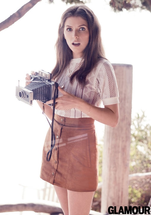 Анна Кендрик  для Glamour, июнь 2015