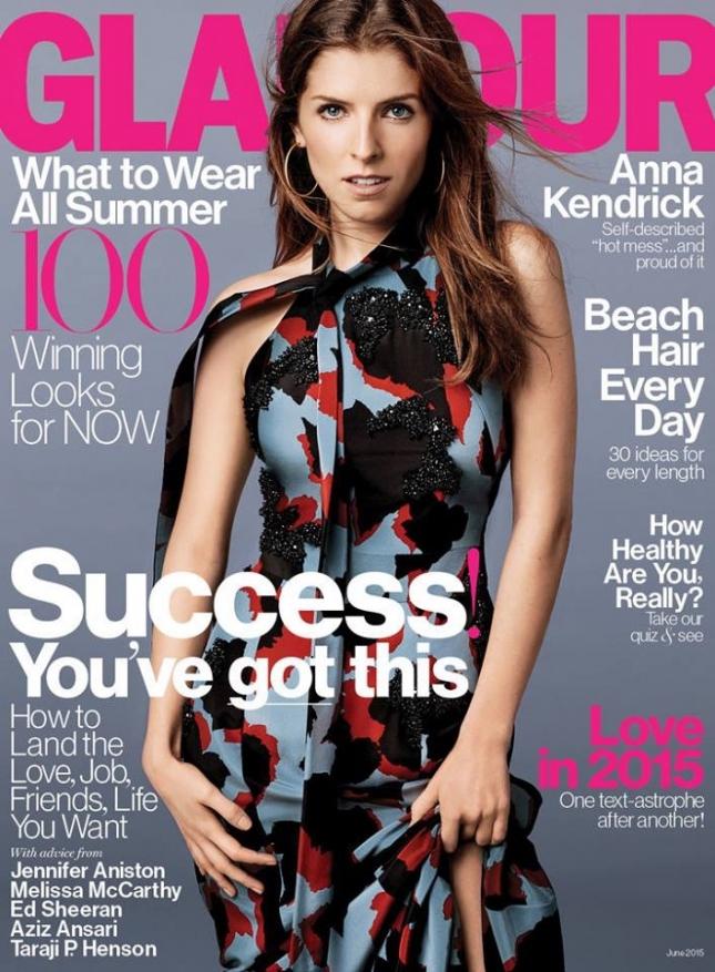 Анна Кендрик  на обложке Glamour, июнь 2015