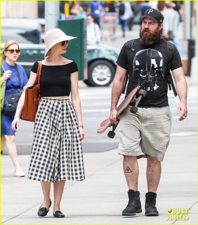 Anne Hathaway Out With A Friend In NYC
