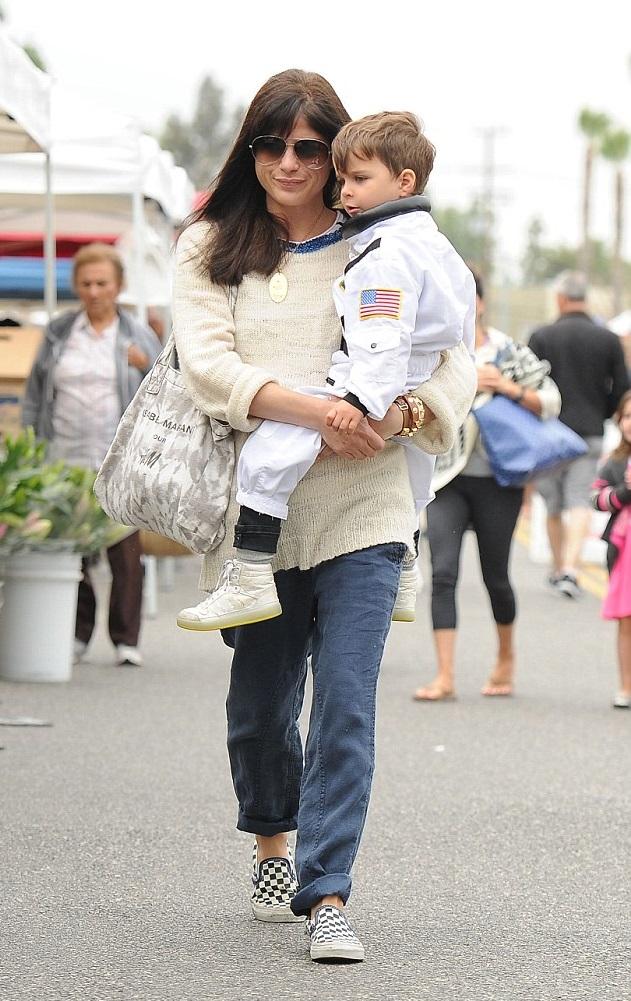 Сельма Блэр с сыном
