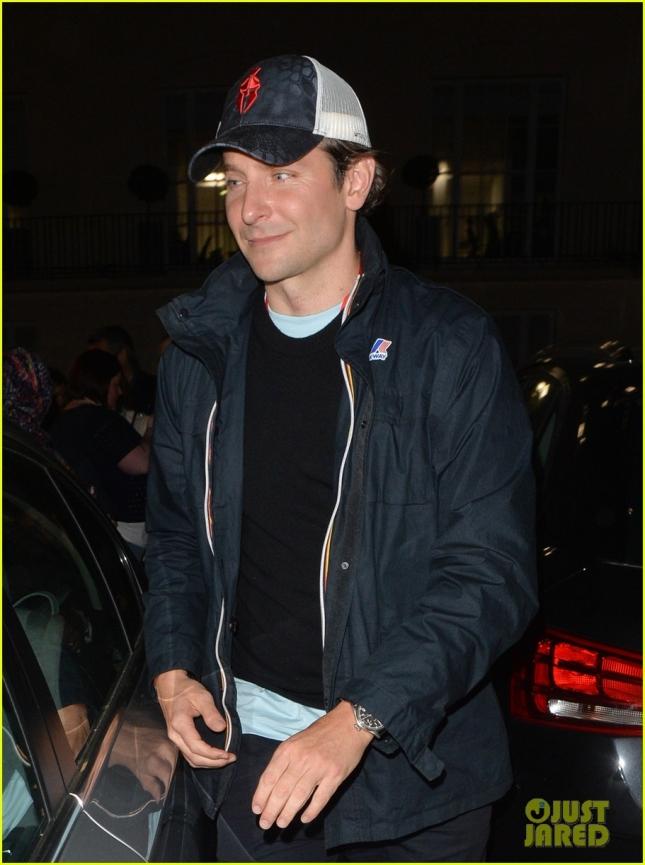 Bradley Cooper leaving a theatre in London