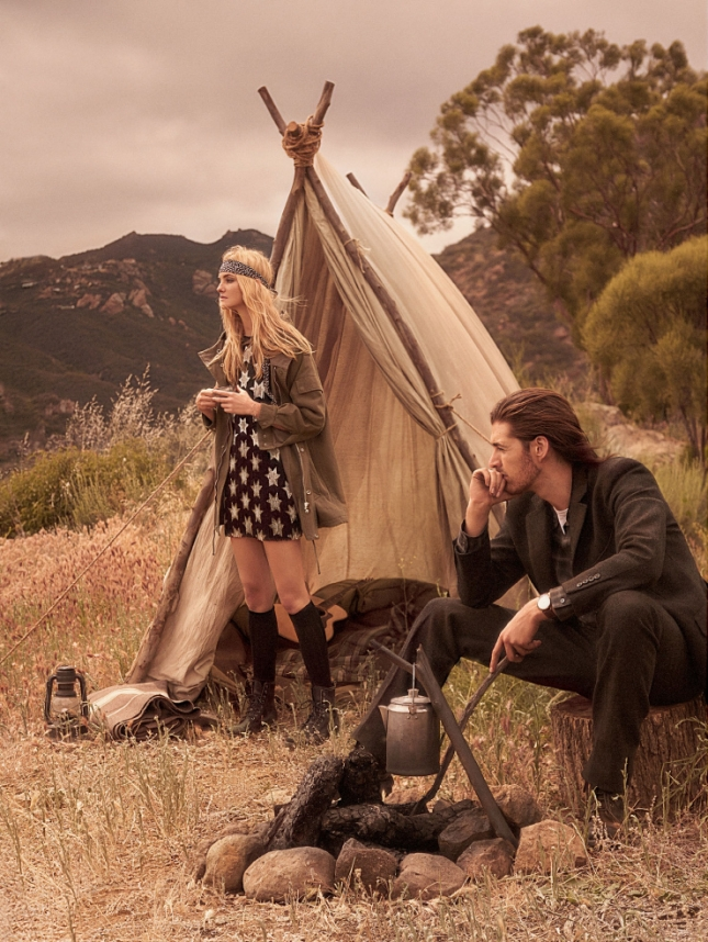 Кэролайн Трентини и Хозиер в фотосессии для Vogue US, июнь 2015