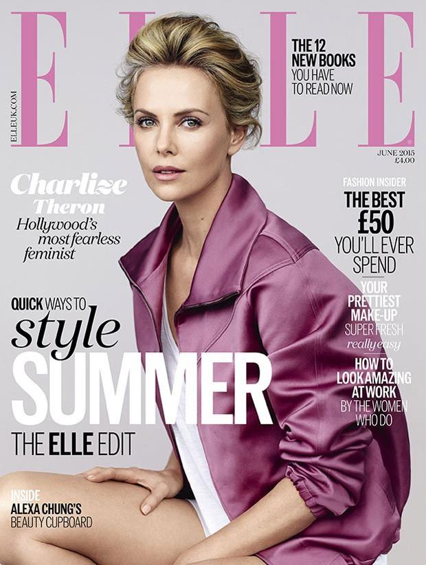 Шарлиз Терон на обложке Elle UK, июнь 2015