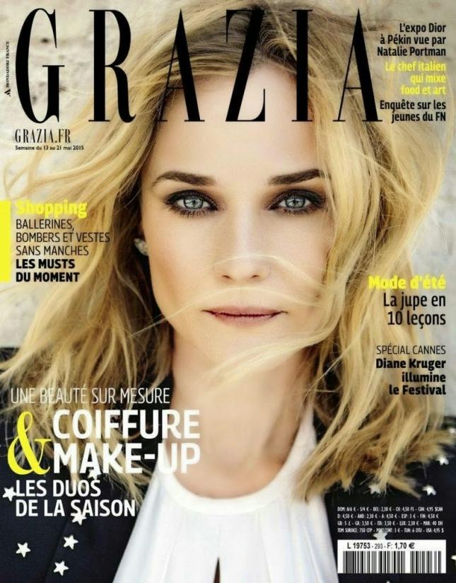 Диана Крюгер на обложке  Grazia France, май 2015