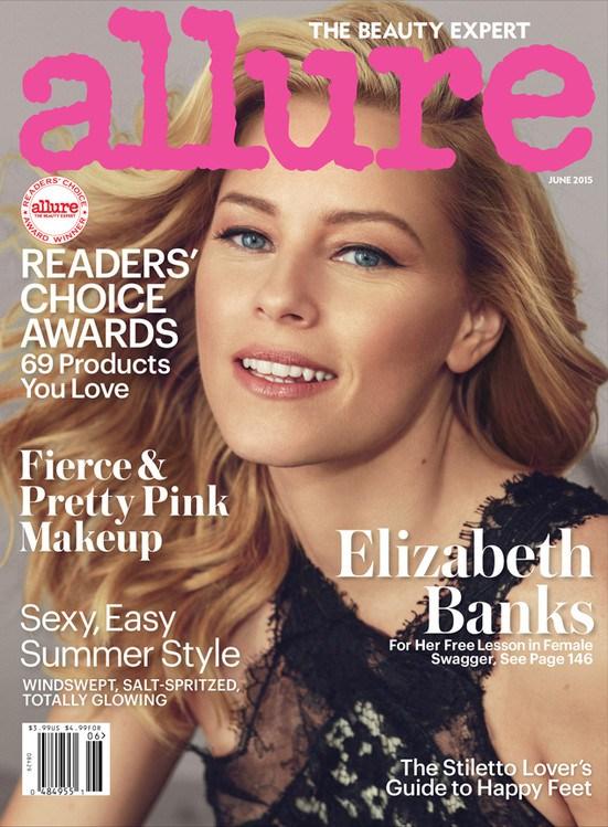 Элизабэт Бэнкс на обложке  Allure, июнь 2015