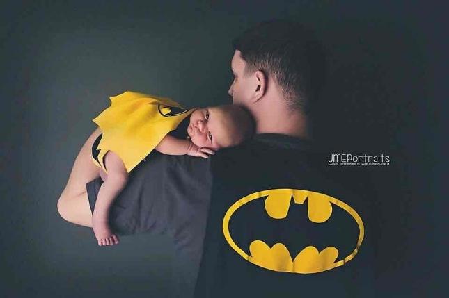 Папа и сын супергерои