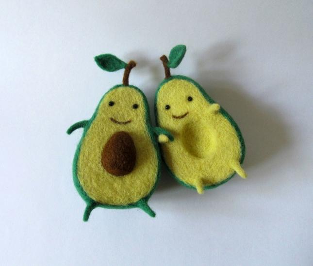 Милейшие авокадинки из шерсти от украинской художницы Анны Довган