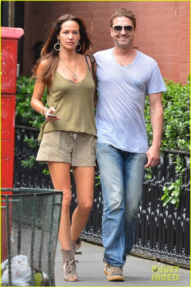 EXCLUSIVE: Gerard Butler seen out with his girlfriend Morgan Brown in West Village, NYC