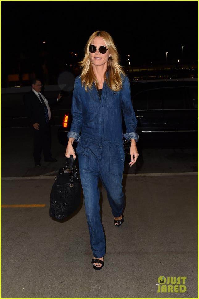 Хайди Клум в аэропорту LAX