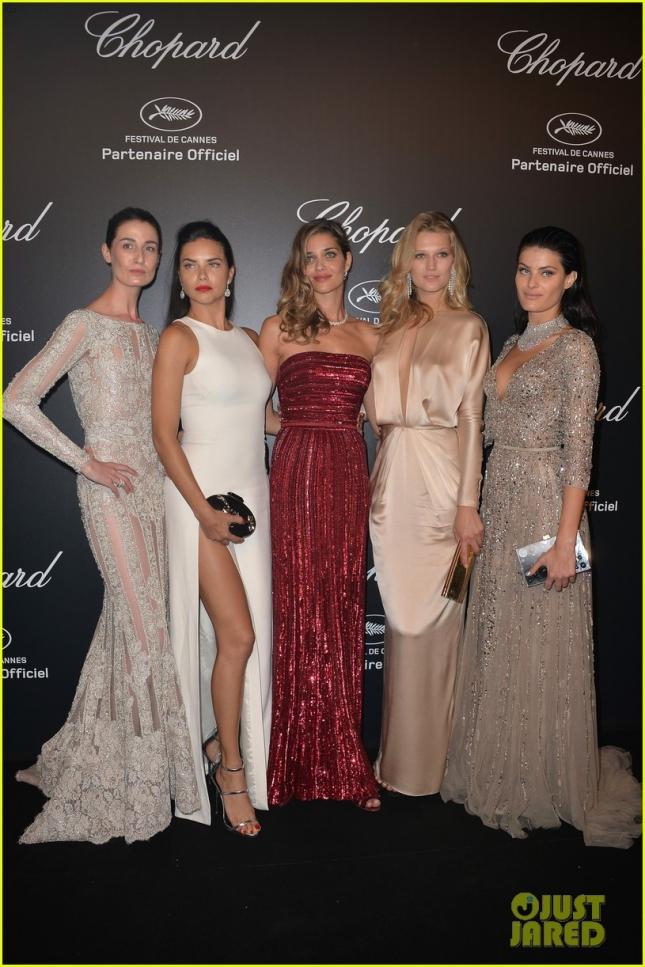 Модели на вечеринке Chopard