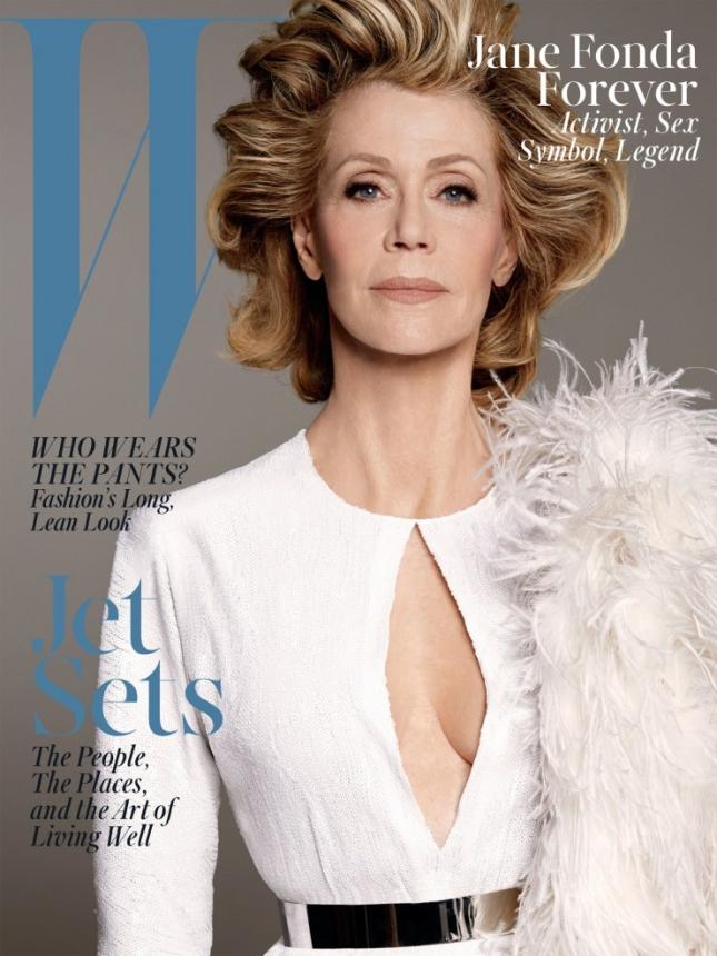 Джейн Фонда на обложке W magazine, июнь 2015