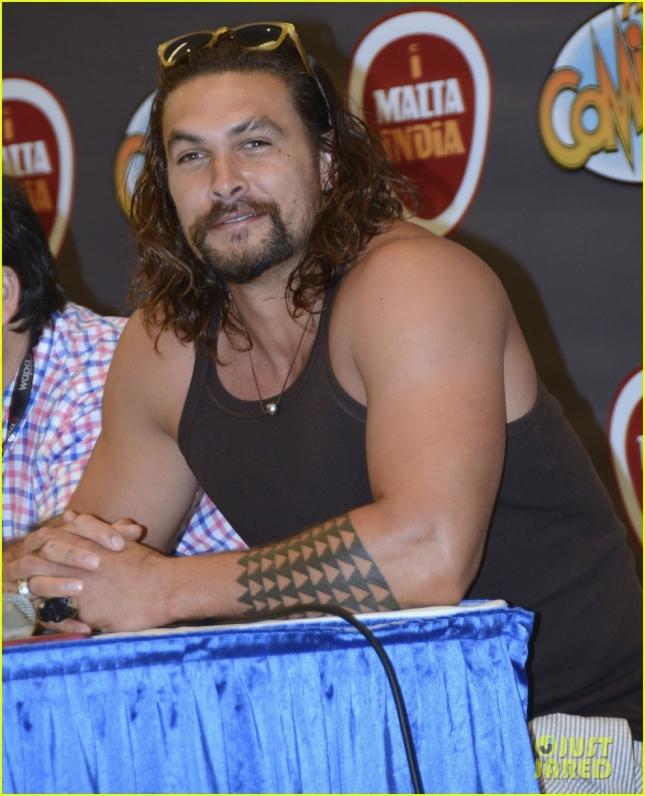 Jason Momoa attends ComicCon in San Juan