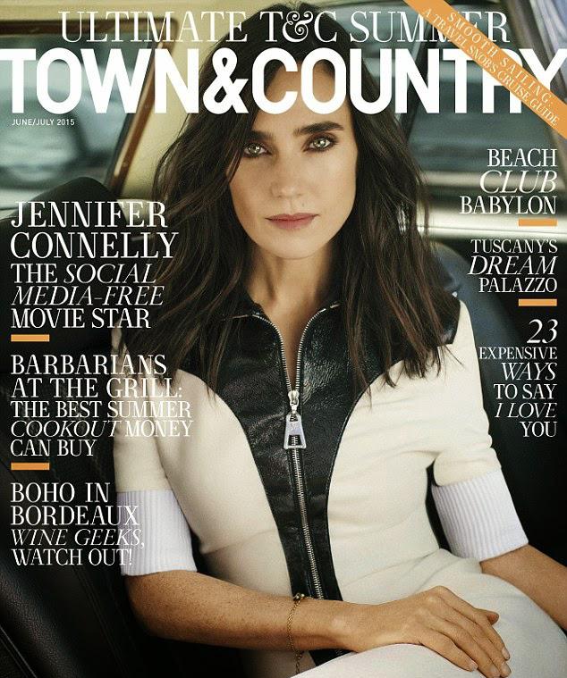 Дженнифер Коннелли  на обложке Town &Country, июнь 2015